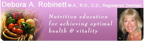Debora Robinett: Nutritionist Registered Dietitian - Tacoma Seattle.